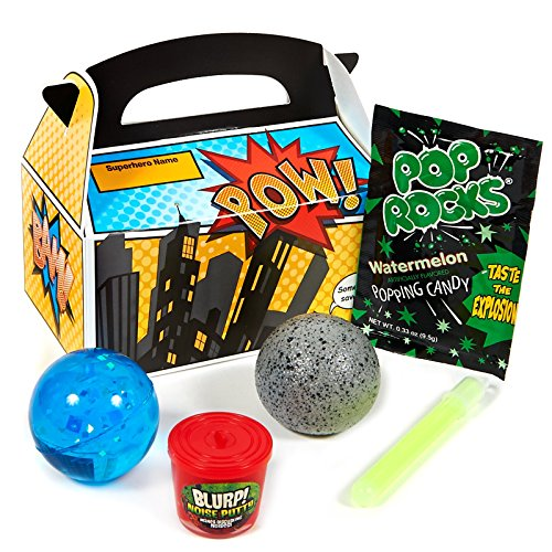Superhero Comics Filled Party Favor Box