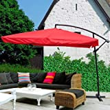 Offset Outdoor Patio Umbrella 9 Ft Red