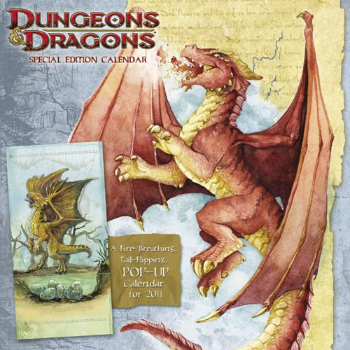 Dungeons & Dragons Special Edition 2011 Wall Calendar