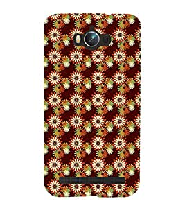 99Sublimation Modern Art Design Flower Pattern 3D Hard Polycarbonate Back Case Cover for Asus Zenfone Max ZC550KL :: 2016 :: 6A076IN