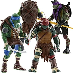 "2014 New Teenage Mutant Ninja Turtles Movie 5"" Action Figure TMNT 4pcs/Lot Toys"