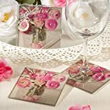 Vintage Floral Design Photo Coasters - Set of two 3.5