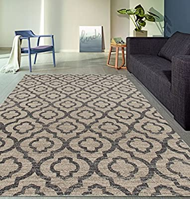 Moroccan Trellis Pattern High Quality Soft Area Rug (NEW)