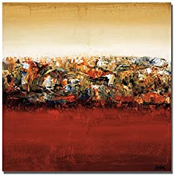 Red Lake by Yehan Wang Premium Oversize Gallery-Wrapped Canvas Giclee Art (Ready-to-Hang)