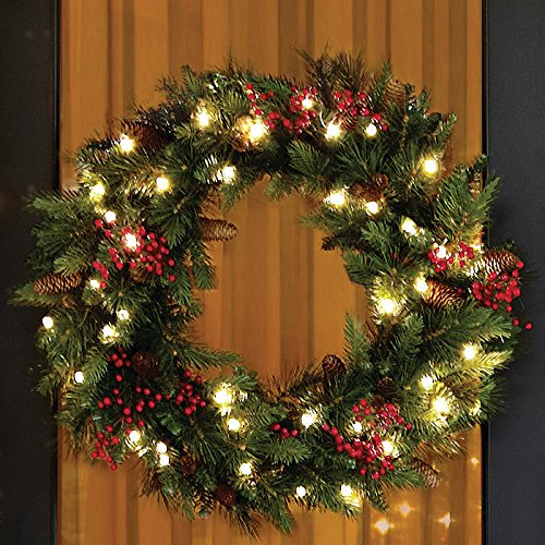 Best Battery Operated Christmas Wreaths Pre Lit (with image ...