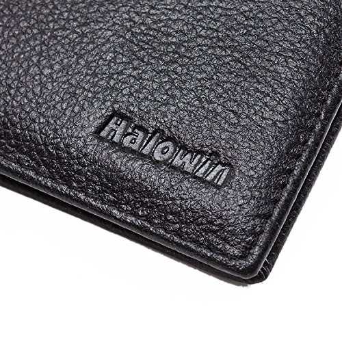Men-RFID-Blocking-Wallet-Genuine-Leather-Credit-Card-Protector-Bifold-8-Slots-Black