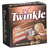 Twinkle Brass & Copper Cleaning Kit, Easy Effective Cream Formula, 4.38-Ounce Box (Pack of 2)