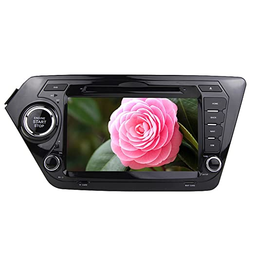 Rungrace Station Multimedia DVD Android 8 Pouce 2 Din Ecran Tactile TFT In-Dash Pour Kia K2 avec Bluetooth, DVD-Ready GPS, RDS, WIFI, iPod, Bluetooth (RL-462AGNR