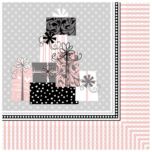 Elegant Wedding Luncheon Napkins, 16ct