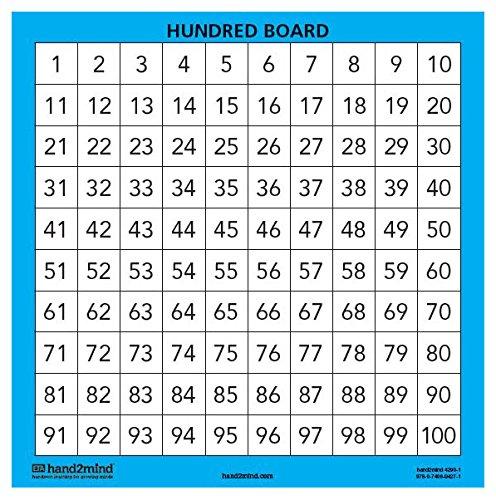 ETA hand2mind Laminated Hundred Boards, Set of 10 (Hundreds Chart Manipulative compare prices)