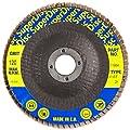 "Sundisc 11004 Type 29 Standard Density Abrasive Super Flap Disc, X Weight Poly/Cotton Blend, Zirconia, 4"" Diameter, 120 Grit, 5/8"" Arbor (Pack of 5)"