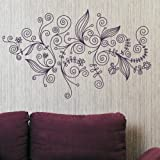 Elegant Floral Wall Transfer /Interior Wall Decal / Flower Wall Sticker fl54
