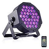 DeepDream Black Light 36W Blacklight UV LED DJ Lights Spotlight Remote Control Party Wedding Lighting (Color: 36leds Uv, Tamaño: 36 LEDs)