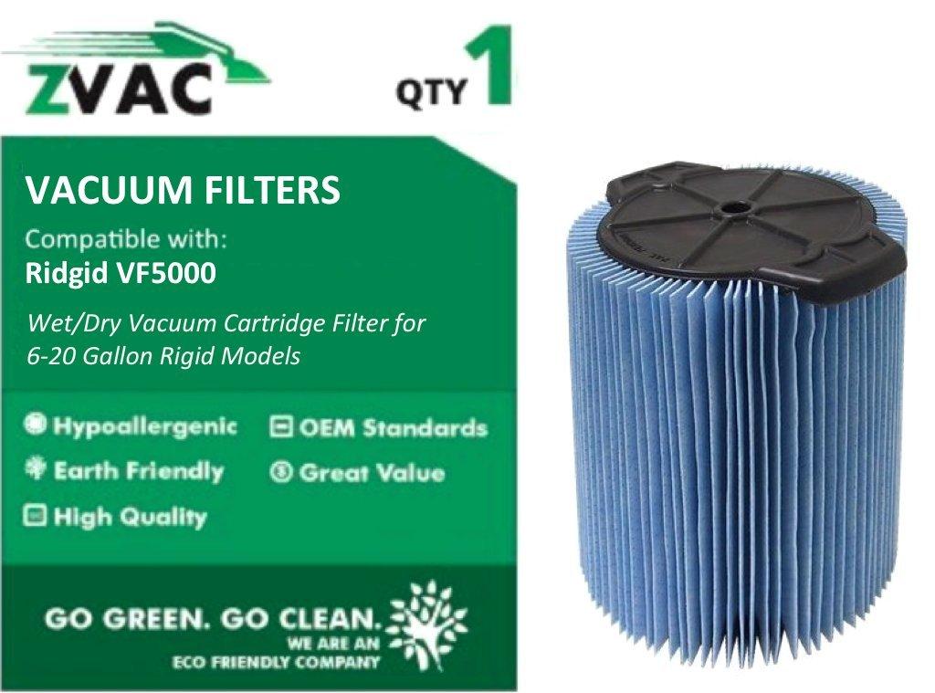 ZVac Ridgid VF5000 3 Layer High Efficiency Wet / Dry Vacuum Cartridge Filter for 6-20 Gallon Rigid Models, Generc. at Sears.com