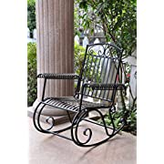 Iron Scroll Patio Rocker