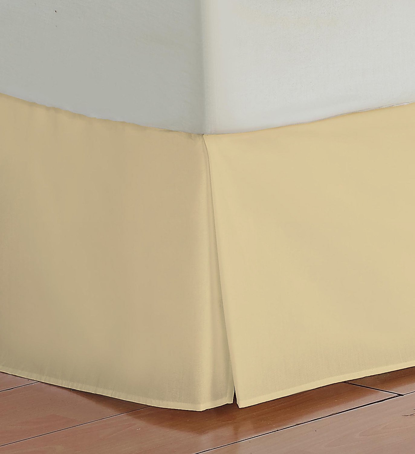 Cal-king Size 400 Thread Count 100% Egyptian cotton 17 Deep Pocket Tailored Bedskirt Solid -Gold Created By Pearl Bedding lacasa bedding 500 tc egyptian cotton fitted sheet italian finish solid king sky blue
