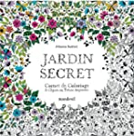 Jardin secret, carnet de coloriage et...
