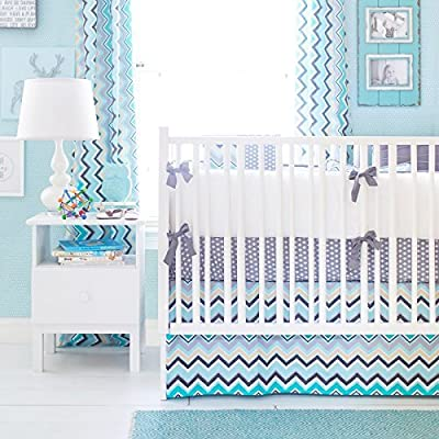 Piper 3 Piece Crib Bedding Set by New Arrivals