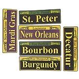 Fun Express Mardi Gras Street Signs - 6 Pieces