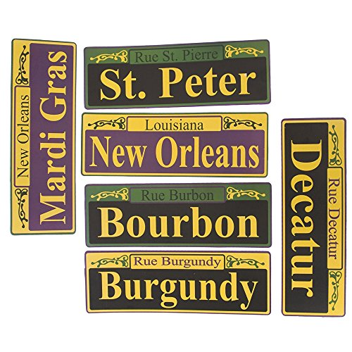 Mardi Gras Street Signs