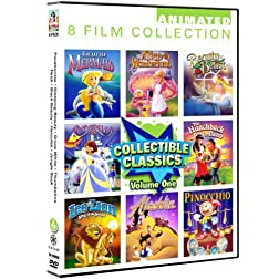 Animated Classics 8 Pack Volume 1: The Little Mermaid, Alice In Wonderland, Beauty & The Beast, Cinderella, The Hunchback Of Notre Dame, Leo The Lion, Aladdin, Pinocchio