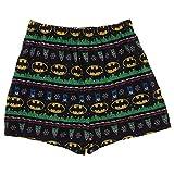 Batman Men's Ugly Sweater Knit Boxer, Multi, Large