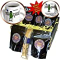 All Smiles Art Sports and Hobbies - Funny Pickleball Pickle Playing Pickleball - Coffee Gift Baskets - Coffee Gift Basket (cgb_200114_1)