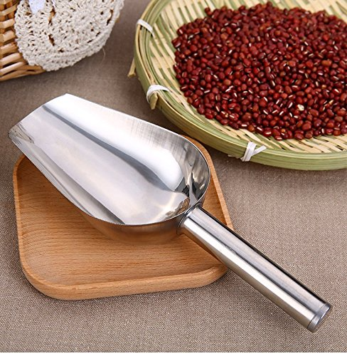 """Astra shop Small Stainless Steel Stainless Steel Ice Scoop. Perfect As a Dry Goods Scoop, Candy Scoop and Spice Scoop, 7-1/2""""Long by 2-1/2""""Wide"""