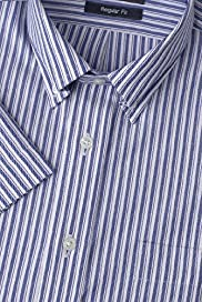 Pure Cotton Quick Iron Edge Striped Oxford Shirt