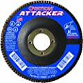 SAIT 76246 Ovation Attacker Flap Disc, 7 x 7/8 Z 40x, 10 Pack