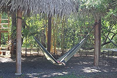 Ultra-Light Camping Hammock (Double) by Hammock Time(TM) Portable Travel Parachute Nylon Double Camping Hammock XL with Triple Stitching, Includes 2 Free Hi-Strength Steel Carabiners