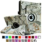 Fintie Apple iPad Air Case - 360 Degree Rotating Stand Case Cover with Auto Sleep / Wake Feature for iPad Air (iPad 5th Generation) 2013 Model, Map Design