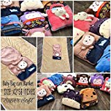 "ShopyBucket Cute Animal Face Super Soft Velvet Covering Baby Bag Cum Blanket Cum Storage Organiser Size 42 X 56""(Item Will Be Shipped To Any Of One)"