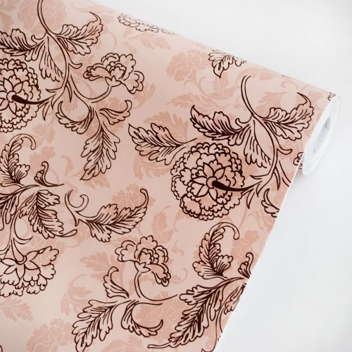Misty Peony - Self-Adhesive Wallpaper Home Decor(Roll) front-447078