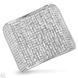 White Gold 1.65 CTW Color H-I I1-I2 Diamond Men's Ring. Ring Size 10. Total Item weight 10.8 g.