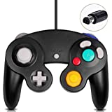 Gamecube Controller, Classic Wired Controller for Wii Nintendo Gamecube (Black) (Color: Black)