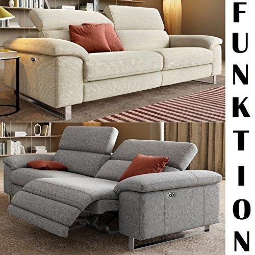 Designer-Sofa-Funktionscouch-Funktionsofa-Stoff-Sofagarnitur-Couchgarnitur-2-Sitzer