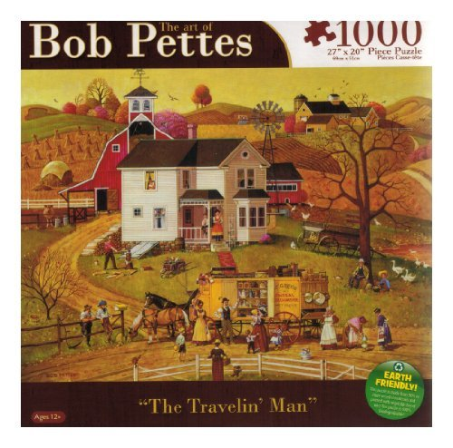 Bob Pettes - The Travelin Man - 1000 Pc Puzzle by Karmin