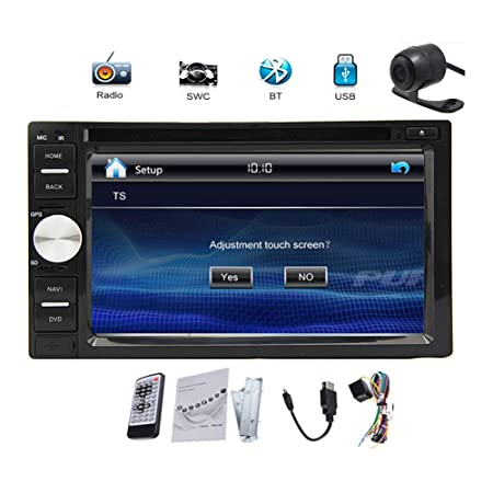BT Cš¢mara libre 6.2 '' HD Double 2 DIN pantalla tš¢ctil numšŠrique de coches reproductor de CD vw Video Player doble 2 din Logo Voiture FM stšŠršŠo AM RDS Radio FM / AM Bluetooth pantalla