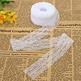 KINGSO 10 Yards White Embroidered Net Lace Trim Ribbon DIY Craft 3.5cm