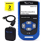 Vgate VS450 For Audi/VW OBDII Scaner Diagnostic Code Reader Check Engine Light Read and Erase Codes of ENG/ABS/Airbag/Transmission-Blue (Tamaño: Vgate VS450)