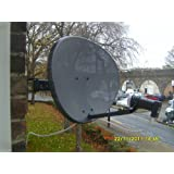 Satgear Sky/Freesat dish kit - New Mk4 Sky Satellite Mini Dish kit with Quad LNB and wall brackets ideal for Sky+ or Freesat self install HD Ready - replaces the 43cm dishby Satgear
