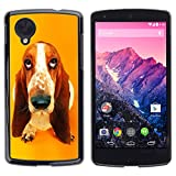 Paccase Hard Protective Case Cover Basset Hound  Pendant Ear Dog LG Google Nexus 5 D820 D821