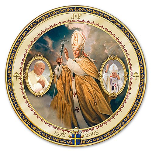 Saint John Paul II Commemorative Porcelain Collector Plate by The Bradford Exchange