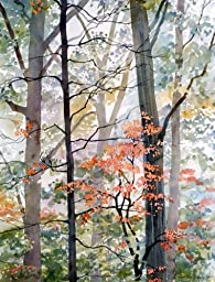 The Little Woods, Giclée Print of Colorful Autumn Trees in the Forest, 10 x 13 Inches