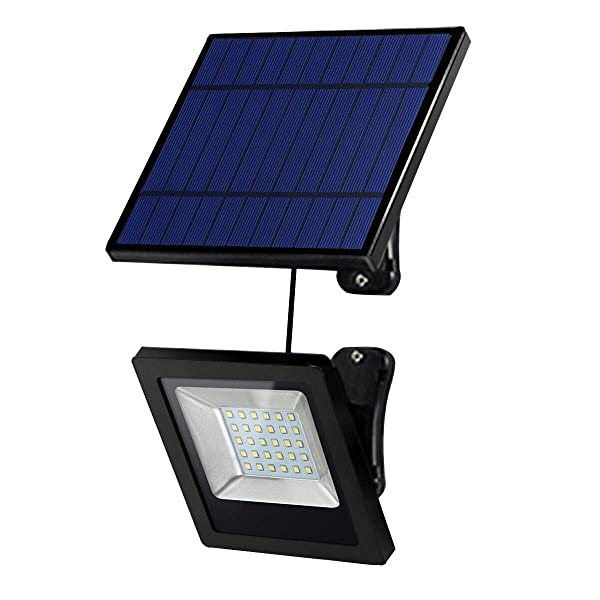 Solar Lights Outdoor, Hikeren IP65 Waterproof Solar Lights(White Light), 30 LED Spotlight, Easy-to-Install Security Lights for Front Door, Yard, Garage, Deck (Color: Blue)