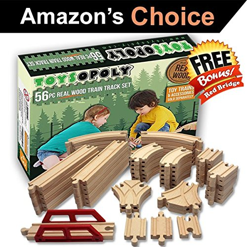 ToysOpoly Wooden Train Tracks Piece