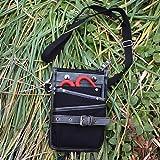 [ガーデニングプロ]KAKURIウエストラゲッジS/GF-1(黒)[園芸・ガーデニング用 剪定鋏や結束紐の持ち運びに便利]