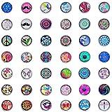 Souarts Zufällige Mischung Runde Wunderbaum Click Button 4.5mm 5.5mm Druckkn?pfe Set 10 St¨¹cke oder 12 St¨¹cke