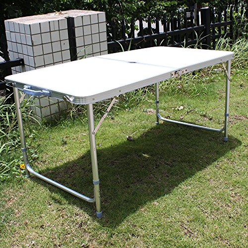 Agptek® Aluminum Folding Hand-Carry Camping Table